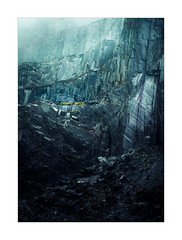 The Mines of Moria (Dave Fieldhouse Photography) Tags: snowdonia wales nationalpark northwales dinorwig dinorwic slate slatemine mine winter rock portrait cloud blue hut moody fuji fujixt2 fujinon wwwdavefieldhousephotographycom tolkien jrrtolkien middleearth lordoftherings fantasy split tone