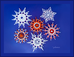 straw stars12 knots (polelena24) Tags: star straw snowflake crystal paper strips christmas