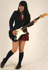 Girl Can Rock (emotiroi auranaut) Tags: girl guitarist rocker guitar play music musician skilled talent skill pretty beauty feminist selfconfidence confident talented
