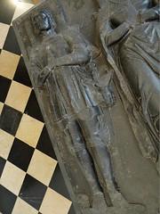 ca. 1530 - 'knight & lady of the family Blocquel de Wisme or Domart', former church of Drocourt, dép. Pas-de-Calais, Musée des Beaux-Arts, Arras, dép. Pas-de-Calais, France (roelipilami (Roel Renmans)) Tags: 1530 1525 tabard blocquel de wisme domart knight lady chevalier dame drocourt pasdecalais arras musée des beaux arts effigy tomb dalle funéraire gisant grafbeeld france church monument grabmal ridder armure armadura armor museum tournai tombale pierre coat arms renaissance tabar harnas tabardo ritter rüstung poleyn tasset couter gauntlet sword mail standard surcoat tabberd calais pas chaperon sculpture efigie