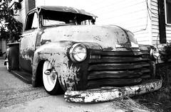 brutus... (Stu Bo) Tags: kustom killer kool sbimageworks truck slammin cruisenight bestofshow blackandwhite bw canon sexonwheels dreamgarage idreamofcarsmotorsandhorsepower rusty crusty grit grime chevy