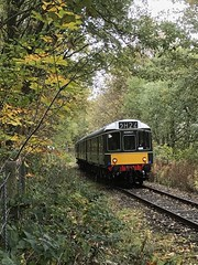 Autumn Walk ELR style (rebeccadelaney45) Tags: east lancashire railway irwell vale dmu diesel engine autumn colour pumpkin trees leaves woodland