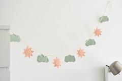 Cloud and sun garland (lilleliis) Tags: crochet garland home sun cloud kids room decor handmade