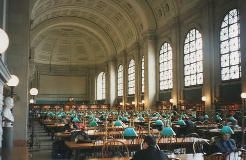 Boston Massachusetts  - Boston Main Public Library - Bates Hall - Reading Room