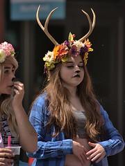 Oh Deer (Scott 97006) Tags: woman females ladies costumes parade horns makeup antlers