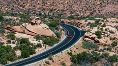 Road (ValeTer_) Tags: road tree badlands mountain sky aerial photography landscape national park geology plant arches utah usa nikon nikond7500 archesnationalpark
