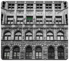 Leipzig Windows (nickyt739) Tags: flikrsbest leipzig germany black white blackwhite bw green windows arches architecture glass noir nikon dslr d750 fx