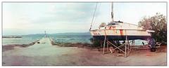 Untitled (Christos Theofilogiannakos) Tags: kmzhorizont horizont truprint200 ferraniasolaris200 expiredfilm panorama tetenalc41