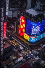 Times Square (karinavera) Tags: city night photography cityscape urban ilcea7m2 sunset nyc building up top newyork timessquare manhattan