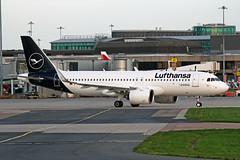 D-AINN Airbus A320-271N (neo) Lufthansa MAN 14NOV18 (Ken Fielding) Tags: dainn airbus a320271n neo lufthansa aircraft airplane airliner jet jetliner
