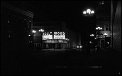 Hollywood - A Love Story (argentography) Tags: wisconsin midwest welti weltur zeiss jena tessar 645 ilford delta theater marquee lacrosse