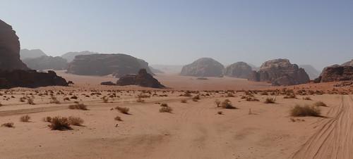 Driving through Wadi Rum Desert (1)