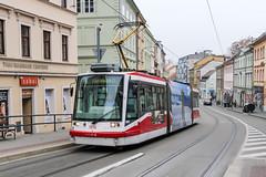 BRN_1816_201811 (Tram Photos) Tags: brno brünn strasenbahn tram tramway tramvaj tramwaj mhd šalina dopravnípodnikměstabrna dpmb škoda 03t skoda anitra astra
