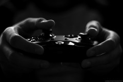 art-black-and-white-controller-194511 (toptenalternatives) Tags: art blackandwhite controller dark game gamer hands indoors love man play studio videogame public domain images