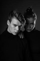 The duo (AlexanderHorn) Tags: bw mono monochrome blackandwhite blackwhite portrait couple pair duo tones dark shadows minimalism simple