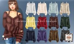 "{amiable}""SATURDAY SALE""Knit Cardigan &""BLACK FRIDAY SALE""@the main store. (nodoka Vella) Tags: amiable saturdaysale sale saturday cardigan knit new game avatar design fashion sweater mesh {amiable} nodoka nodokavella sl secondlife 2018 clothing maitreya tmp belleza slink classic bento セール セカンドライフ ゲーム ニット カーディガン ブラックフライデー physique hourglass isis freya venus nocustomwork original"