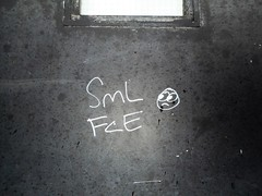 Smile, They Said (navejo) Tags: montreal quebec canada sml fce smile emoji wall window