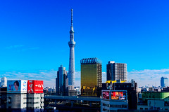 Blue Sky and Tokyo Sky Tree : 青空と東京スカイツリー (Dakiny) Tags: 2018 winter december japan tokyo taito asakusa outdoor city street landscape architecture building skyscraper tower tokyoskytree skytree nikon d750 tamron 35mm f18 tamronsp35mmf18divcusd tamronsp35mmf18divcusdmodelf012 sp35mmf18divcusd sp35mmf18divcusdmodelf012 modelf012 sky blue