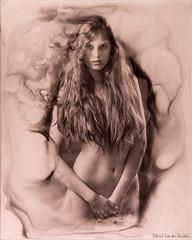 Myaa - NS 4 (patrickvandenbranden) Tags: 10x12 alternativeprocess bw blackandwhite feminity femme fineart glassplate goniochromatype monochrome noiretblanc portrait woman