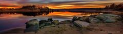 Long Exposure At Sunrise (HarrySchue) Tags: landscape longexposure crabmeadowbeach sunrise seascape seashore marsh reallyrightstuff reflections rocks clouds serene huntingtonny nikon d800e nikorlens