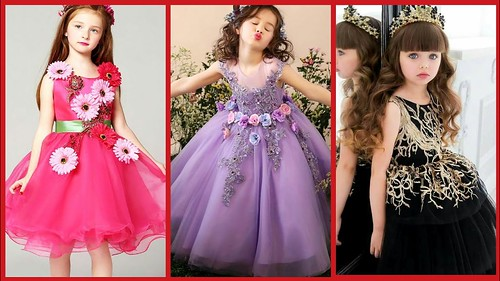Latest Baby Gown Dress Designs Kids Princess Style Frocks Kids Party Wear Dress Collection 2019 A Photo On Flickriver