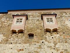 ljubljana-castelul (băseşteanu) Tags: ljubljana slovenia castel castle vechi old arhitectura architecture zid wall ferestre windows