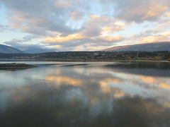 Evening comes on (jamica1) Tags: sunset twilight evening salmon arm shuswap bc british columbia canada clouds lake reflection