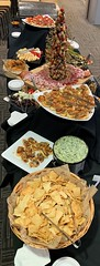 (cafe_services_inc) Tags: cafeservicesinc cafe850 holidayparty holiday2018 alkermesholidayparty pitachips spinachandartichoke dip charcuterie meat cheese brie gouda driedfruit curedmeat crackers fooddisplay tomato sundriedtomato garlic crostini