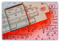 Once Upon A Time (Eclectic Jack) Tags: slide rule math mathematics macro close closeup orange back day backintheday monday macromonday calculation computation post hemmi japan wood bamboo macromondays