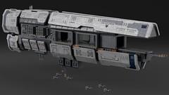 Nurikabe Class Carrier (noblebun) Tags: lego space spaceship homeworld fighter render blender