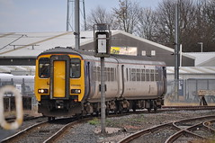 156483 at Morpeth (stephen.lewins (1,000 000 UP !)) Tags: class156 156483 northern northumberland morpeth railways dmu