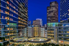 46:52 The Night Light Fantastic (Woodlands Photog) Tags: cityscape nighttime bluehour houston texas