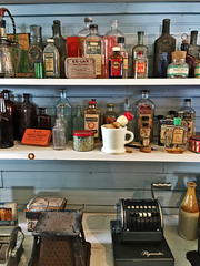 Museum store shelves (SteveMather) Tags: strongsville historical society general store cleveland ohio artifacts shelves shelving items antique