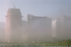 Morning Fog, Newport, Jersey CIty, Nov 2007 (Nesster) Tags: nikon fe tamron adaptall jerseycity nj fog film color