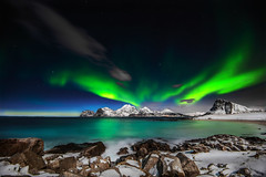Aurora Borealis (steinliland) Tags: northern lights lofoten archipelago islands mountains arcticnature
