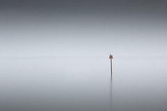 Stood Not Quite Upright (Dan Portch) Tags: minimal le long exposure marker sea seascape seashore seas seaside seagulls seagull stood muted water reflection reflections whitstable kent