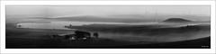 Foggy - 2018-11-24th, Jupiter 9, f8 (colin.mair) Tags: 85mm ballageichhill black dunwandam eaglesham jupiter9 landscape lens m42 manual panorama russian tower ussr white whitelee aerial border f8 farm fog frame monochrome morning wind