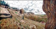 BAKHCHYSARAI. MOUNTAINS DANCING WITH THE SKIES (CrimeanArtist) Tags: crimea crimean russia россия крым крим къырым kırım qırım krim κριμαία рисунок графика drawing таврида tauride landscape mountainscape mountain rock stone пейзаж камень камни гора горы скала скалы бахчисарай bakhchysarai bakhchisarai bahchisaray bağçasaray bahçesaray bakhtchissaraï bachtschyssaraj bajchisarái къырымтатар qırımtatar kırımtatar hanlığı suvlu qaya kaya сувлу кая пастель pastels valley montaña cielo ciel clouds облака тучи skyscape cloudscape крымское крымские ханство акварель bachczysaraj watercolour watercolor akvarel acuarela aquarelle acquerello suluboya wasserfarbe 水彩 水彩画 수채화 bakczysaraj
