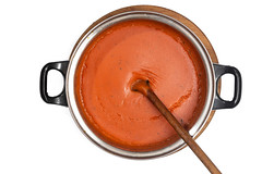 Flat lay above fresh domestic homemade tomato sauce isolated over white background (wuestenigel) Tags: spice natural dressing dieting dish spiced background red homemade cooked isolatedonwhite isolated white vegetable tomato closeup cooking focus ketchup healthy nobody tasty nutrition lunch food sauce spicy gourmet cuisine dining freshness health iconic fresh meal ingredient bowl