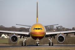 D-AEAM_AirbusA300-600F_DHL_LTN_Img01 (Tony Osborne - Rotorfocus) Tags: airbus a300 a300622rf freighter dhl eat leipzig germany london luton airport 2019 ltn