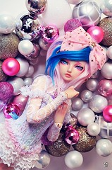 It's a pink Christmas ! (Chantepierre) Tags: bjd balljointeddoll balljointed doll fairyland minifée minifee karsh fc fullcusto full custo custom chantepierre ladicius boy male legit legitdoll