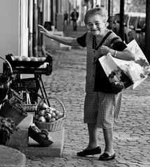 Lidl (Neil. Moralee) Tags: neilmoralee neilmoraleenikond7100 woman lady old mature bad shopping fruit veg vegatables street candid black white mono bbw bandw blackandwhite monochrome neil moralee nikon d7100 health eat fresh lidl vegetables exercise market public awareness people portrait face