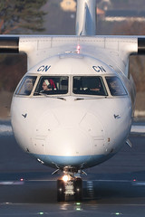 DHC-8-402 Dash 8 G-JECN Flybe (Mark McEwan) Tags: dehavillandcanada dehavilland dhc8 dhc8402 q400 dash8 gjecn flybe edi edinburghairport edinburgh aviation aircraft airplane airliner christmas santahat
