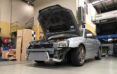 Front mount. (andrew edgar .......) Tags: subaru impreza wrx silver turbo awd car sydney blacktown
