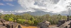 Borubudur (Hans van der Boom) Tags: vacation holiday asia indonesia indonesië java candi temple boribudur landscape panorama mountain borubudur id