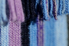 Stripes .... (acwills2014) Tags: cloth macromondays blues stripes wool scarf