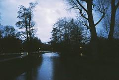 Amsterdam (kunderwet) Tags: sky park amsterdam nederland holland film 35 biogon 35mm analog contax contaxg1 child children rink tree water lake night