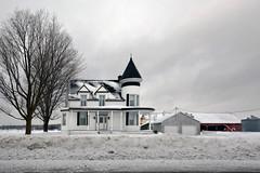 Country Castle (emerge13) Tags: architecture countryside mascouchequébeccanada snow winter farmhouse trees white whiteonwhite wintertextures iknowwhereyouare projectwheather