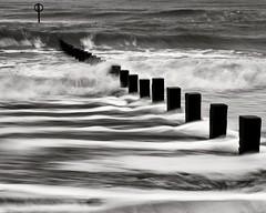 Lines (PeskyMesky) Tags: aberdeen aberdeenbeach longexposure water sea ocean groyne wave contrast canon canon5d eos scotland