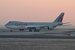 Boeing 747-8 A7-BGA Qatar Airways Cargo (Jarco Hage) Tags: frankfurt am main duitsland germany eddf byjarcohage aviation airplane airport vliegtuig flugzeuge during sunrise sunset sun morning zon zonsopkomst boeing 7478 a7bga qatar airways cargo